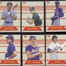1987 Fleer Headliner Set (6) Cards w/ BOGGS, Henderson, RICE++