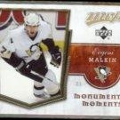 EVGENI MALKIN 2007 UD MVP Monumental Moments Insert #MM5.  PENGUINS