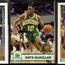 NATE McMILLAN 1992 + 1993 Topps GOLD + 1993 Hoops GOLD Inserts.  SONICS