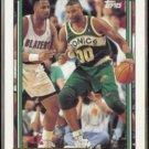 BENOIT BENJAMIN 1992 Topps GOLD Insert #161.  SONICS