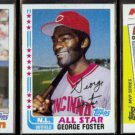 GEORGE FOSTER 1982 Topps IA + AS + 1982 Topps KMart Odd.  REDS