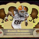 TRAVIS BENJAMIN 2012 Panini Crown Royale Rookie #'d Insert 18/99.  BROWNS