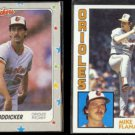 MIKE BODDICKER 1988 Fleer Star Sticker + MIKE FLANAGAN 1984 Topps.  ORIOLES