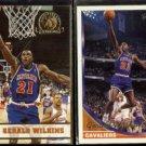 GERALD WILKINS 1993 Hoops GOLD Insert #42 + 1993 Topps GOLD Insert #62.  CAVS