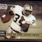 BO JACKSON 1991 Pro Set #335 w/ Barry Sanders.  RAIDERS