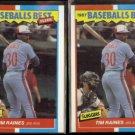 TIM RAINES (2) 1987 Fleer Best Odds #32 of 44.  EXPOS
