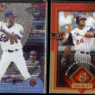 MILTON BRADLEY 2000 Topps Finest #246 + 2004 UD AS Lineup #26.  EXPOS / INDIANS