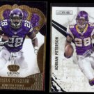 ADRIAN PETERSON 2013 Panini Crown Royale #13 + 2010 Panini R&S #81.  VIKINGS