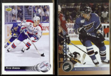 PETER BONDRA 1992 Upper Deck #115 + 1997 Donruss #135.  CAPITALS