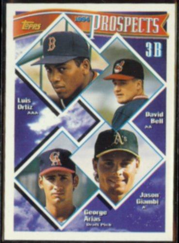 JASON GIAMBI 1994 Topps Prospects #389.  OAKLAND A's
