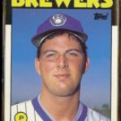 DAN PLESAC 1986 Topps Traded Rookie #87T.  BREWERS