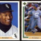 BO JACKSON 1991 Upper Deck #744 + #545.  WHITE SOX / ROYALS