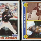 JOE MORGAN 1982 Topps In Action + 1983 Topps Super Vet.  GIANTS