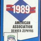 DENVER ZEPHYRS 1989 Pro Cards Checklist #57.  Greg Vaughn, Darryl Hamilton