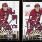 KYLE TURRIS (2) 2009 UD MVP Silver Signature Inserts #77.  COYOTES