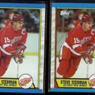 STEVE YZERMAN (2) 1989 Topps #83.  RED WINGS