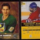 DAINIUS ZUBRUS (2) 1996 Score Board All Sports Plus RC's #170.  DRUZHBA