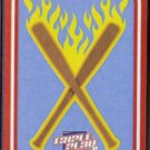 BATS AFLAME Sticker 2012 Panini Triple Play #2.  Ad Back - Flimsy Stock