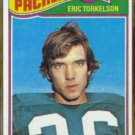 ERIC TORKELSON 1977 Topps #434.  PACKERS