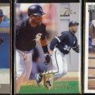 TIM RAINES (3) Card Lot (1991 + 1994).  WHITE SOX