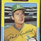PAUL LINDBLAD 1975 Topps #278.  A's