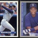 BERNIE WILLIAMS 1993 Donruss #577 + 1993 Fleer #289.  YANKEES