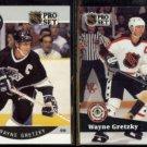 WAYNE GRETZKY 1990 Pro Set #118 + 1991 Pro Set #285.  KINGS