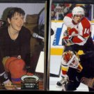 THEOREN FLEURY 1992 Stadium Club #2 + 1995 UD Special Edition Insert #SE101.  FLAMES