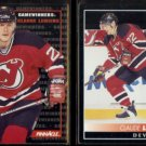CLAUDE LEMIEUX 1992 Pinnacle #284 + #259.  DEVILS