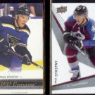 PAUL STASTNY 2014 UD Canvas #C191 + 2008 UD Ice #74.  BLUES / AVALANCHE
