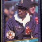 DENNIS (Oil Can) BOYD 1986 Donruss #35.  RED SOX