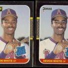 DEVON WHITE 1987 Leaf + 1987 Donruss #38.  ANGELS - Rated Rookie