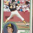 DAVE DRAVECKY 1983 Topps #384.  PADRES