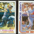 LARRY BOWA 1982 Topps #515 + 1982 Topps In Action #516.  PHILLIES