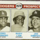 PEDRO GUERRERO 1979 Topps DODGERS Prospects #719 w/ Rudy Law.