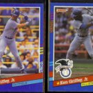KEN GRIFFEY Jr. 1991 Donruss #77 + 1991 Donruss AS #49.  MARINERS