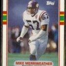 MIKE MERRIWEATHER 1989 Topps Traded #25T.  VIKINGS