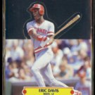 ERIC DAVIS 1987 Leaf Pop Up N#OB.  REDS