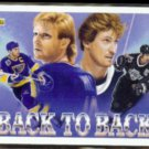 WAYNE GRETZKY 1992 Upper Deck Back to Back w/ Brett Hull.  KINGS