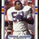 PEPPER JOHNSON 1989 Topps #176.  GIANTS