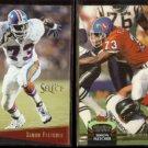 SIMON FLETCHER 1993 Select #132 + 1992 Stadium Club #214.  BRONCOS