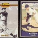 EDDIE LOPAT 1993 Ted Williams #65 + 1990 Pacific Legends #38.  YANKEES