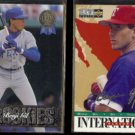 BENJI GILL 1993 Gold Leaf Rookie + 1995 UD CC Silver Signature Inserts.  RANGERS