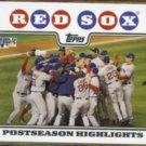RED SOX 2008 Topps (Postseason Highlights) #234.  Sweep Rockies