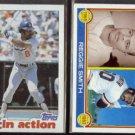 REGGIE SMITH 1982 Topps #546 + 1983 Topps #283.  DODGERS / GIANTS