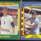DALE MURPHY 1986 Fleer Limited Edition #31 of 44 + 1987 #30 of 44.  BRAVES