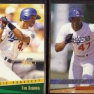 TOM GOODWIN 1993 Select Prospect #349 + 1993 Ultra #398.  DODGERS