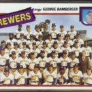 GEORGE BAMBERGER 1980 Topps BREWERS Team Card #659.  Checklist