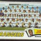 FRANK LUCCHESI 1977 Topps #428 - RANGERS Team Checklist