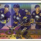 PAT LaFONTAINE 1995 Topps Power Lines Insert #6PL w/ Dawe. Mogilny.  SABRES